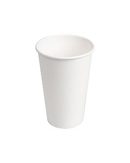 vasos bebidas calientes 1 pared 480 ml 300 + 18 pe g/m2 Ø9/6x13,2 cm blanco cartoncillo (1000 unid.)