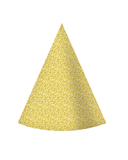 6 u. sombreros cÓnicos Ø 10,5x15 cm dorado cartoncillo (1 unid.)