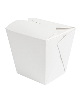 microwavable multi-purpose containers 'thepack' 780 ml 230 + 12pp gsm 8x7x10,5 cm white nano-micro corrugated cardboard (450 unit)