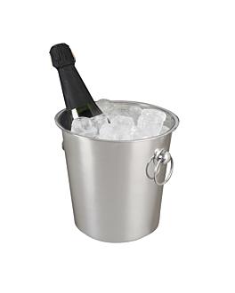 seau À champagne avec anses Ø 21x21 cm argente inox (1 unitÉ)