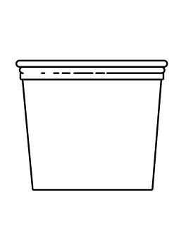 terrina + tampa 750 ml Ø11,7x10,5 cm transparente pet (250 unidade)