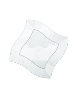 recipientes cuadrados irregulares 18 cm transparente ps (150 unid.)