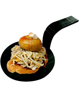 mini schaufeln fÜr snacks Ø 5 cm schwarz bambus (100 einheit)
