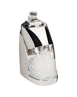 electric ice crusher 24x12,5x24,5 cm silver stainless steel (1 unit)