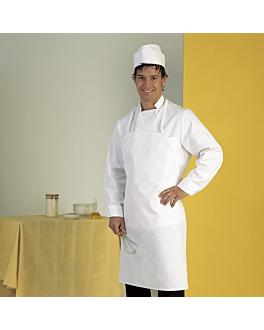 tablier avec bavette 71x88 cm blanc polyester (1 unitÉ)