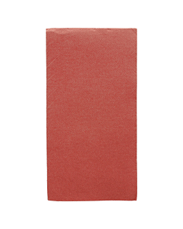 guardanapos ecolabel dobrados 1/8 'double point' 18 g/m2 40x40 cm bordeaux tissue (1200 unidade)