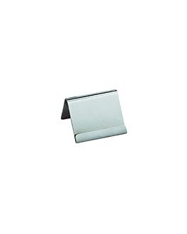 cavalletti etichette da tavola 6 cm argento acciaio inox (25 unitÀ)