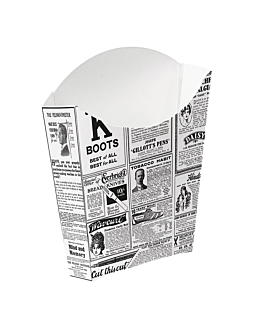 cajetillas fritas jumbo 'thepack times' 165 g 230 g/m2 13,5x8,5x16 cm blanco cartÓn ondulado nano-micro (1200 unid.)