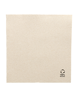 ecolabel napkins 'double point' 19 gsm 33x33 cm natural recycled tissu (1200 unit)