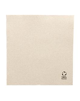 servilletas ecolabel 'double point' 19 g/m2 33x33 cm natural tissue reciclado (1200 unid.)
