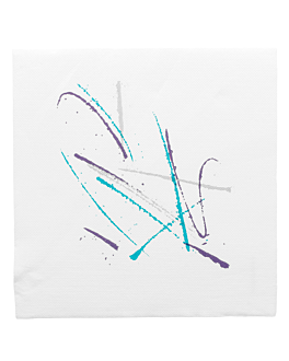 serviettes ecolabel 'double point - volare' 18 g/m2 40x40 cm blanc ouate (1200 unitÉ)