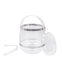 seau Ø 19x19 cm transparent acrylique (1 unitÉ)