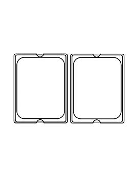 lid 1/2 for items 202.06/07 113.42 32,5x26,5 cm clear polycarbonate (1 unit)