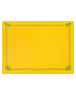 table mats 48 gsm 31x43 cm sun yellow cellulose (2000 unit)