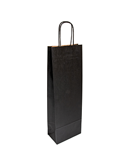 sos-tÜten mit henkeln 1 flasche 100 g/m2 14+8x40 cm schwarz kraft (250 einheit)