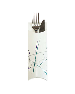 cutlery envelopes 'volare' 230 gsm 5,5x19,5 cm white cardboard (300 unit)