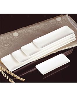 platos oblongos 26,5x9,5 cm blanco porcelana (6 unid.)