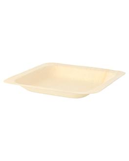 squared dishes 'wood' 11,5x11,5x1,5 cm natural wood (50 unit)