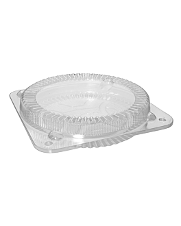 containers for cakes & quiche Ø 26x4 cm clear ops (150 unit)