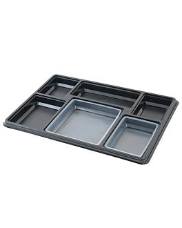 vassoi per menu d'aporto 38x27,4x5,5 cm nero pet (100 unitÀ)