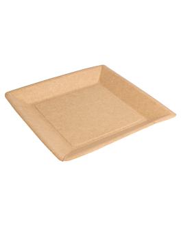 square bio-lacquered plates 260 gsm 18x18 cm natural cardboard (400 unit)