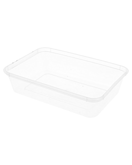 rectangular containers 500 ml 17,5x12x3,5 cm clear pp (500 unit)