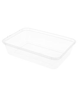 recipientes rectangulares 500 ml 17,5x12x3,5 cm transparente pp (500 unid.)