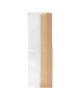 sachets pour sandwiches 'corner window' 40 g/ m2 14+8x38 cm naturel kraft (250 unitÉ)