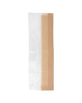 sacos para sanduÍches 'corner window' 40 g/m2 14+8x38 cm natural kraft (250 unidade)