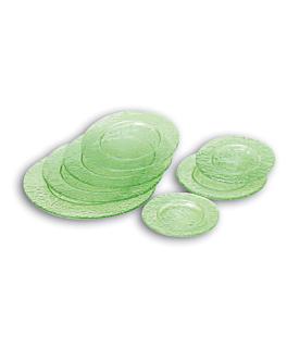 platos Ø 25 cm verde agua cristal (24 unid.)