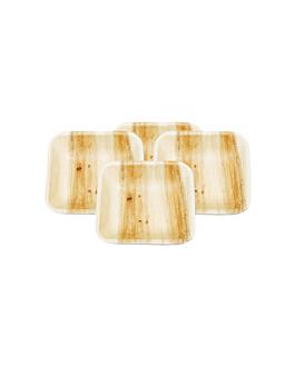 platos cuadrados 'areca' 7,7x7,7x2 cm natural areca (200 unid.)