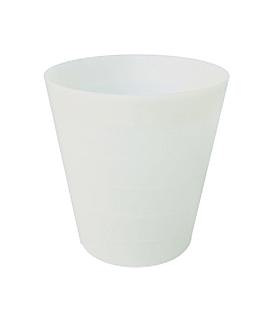 papelera Ø 28x29 cm blanco pehd (1 unid.)