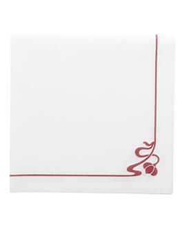 """serviettes """"rose"""" 45 g/m2 40x40 cm blanc airlaid (700 unitÉ)"""