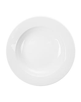 platos hondos Ø 23 cm blanco porcelana (24 unid.)
