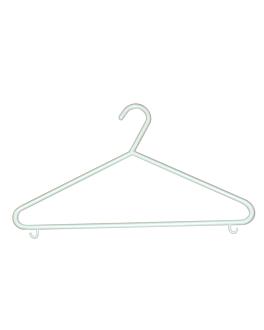 inexpensive hangers 37x21 cm white pp (100 unit)