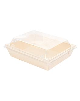 combo containers + pet lids 16x12x6 cm natural wood (200 unit)