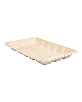 trays 'bionic' 700 ml 27x16,7x2,6 cm natural bagasse (400 unit)