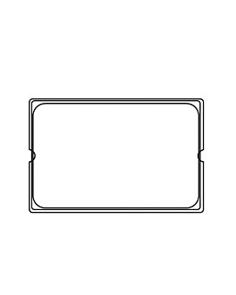 tapa 1/1 para cÓdigos 181.63/64/65 53x32,5x3,7 cm plateado inox (1 unid.)