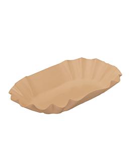 vassoio ovale 19,5x11x3,2 cm naturale kraft (1000 unitÀ)