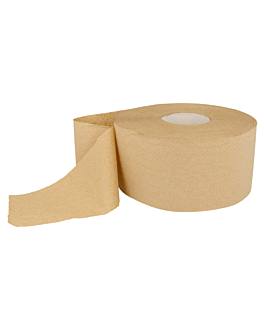 """baby jumbo"" toilet paper 1 ply - 1010 sheets 'feel green' 34 gsm Ø19,5x9,6 cm natural recycled (12 unit)"