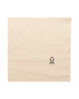 ecolabel napkins 2 plies 18 gsm 30x30 cm natural recycled tissu (2400 unit)