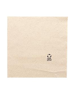 serviettes ecolabel 2 plis 18 g/m2 30x30 cm naturel ouate recyclÉe (2400 unitÉ)