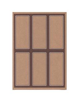 100 fogli din a4 6 etichette rettangolari 6,2x13,5 cm kraft (1 unitÀ)