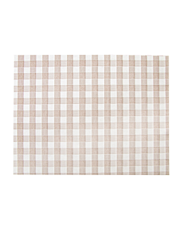 mantelines 'like linen - vichy' 70 g/m2 30x40 cm taupe spunlace (800 unid.)