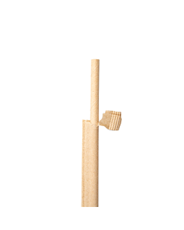 kraft wrapped straight straws Ø0,60x20 cm natural kraft (3000 unit)