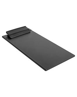 supports pour signature facture/carte 11,5x23,5 cm noir abs (12 unitÉ)