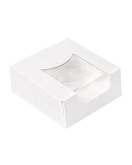 contenitori sushi+finestra 'thepack' 230 g/m2 + opp 10x10x4 cm bianco cartone ondulato a nano-micro (400 unitÀ)