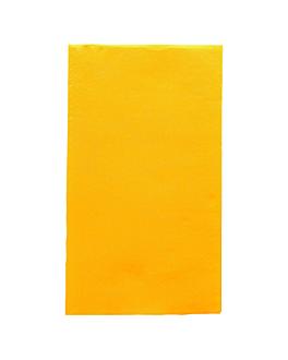 ecolabel napkins f. 1/6 'double point' 18 gsm 33x40 cm sun yellow tissue (2000 unit)
