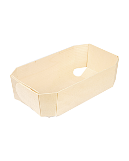 small containers 18x10,5x5,5 cm natural wood (300 unit)