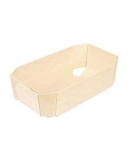 barquettes 18x10,5x5,5 cm naturel bois (300 unitÉ)